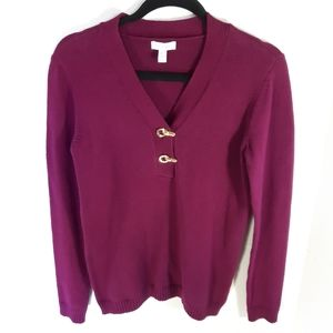 Charter Club v-neck sweater.   Size small